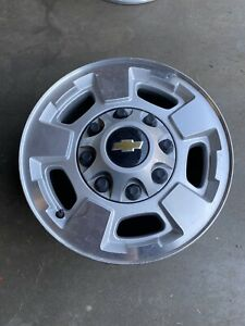 2015 Gmc Chevy 2500 3500 17 8 Lug Silver Factory Oem Wheel Rim Alloy Aluminum