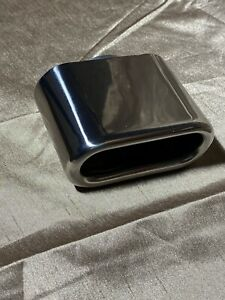 Exhaust Tip 4 5x2 Outlet 3 5 Long 1 75 Inlet Rolled Rectangle Stainless