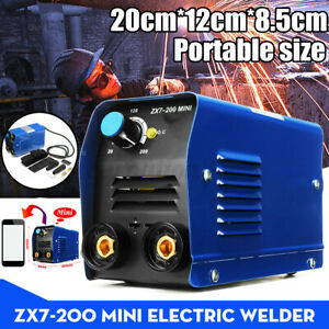 8pcs Set 200a Mini Arc Igbt Inverter Stick Welder Electric Welding Machine Kit