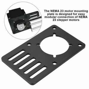 Anodized Aluminum Nema 23 Stepper Motor Mount Plate For Cnc 3d Printer Parts