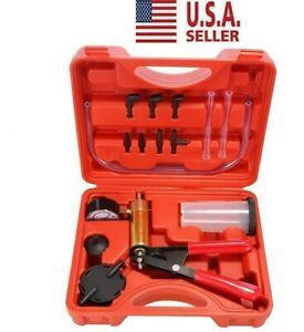 Car Hand held Vacuum Pressure Pump Tester Kit New Brake Fluid Bleeder With Box