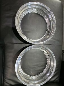 2 18 x 4 5 Outer Step Lip Polished Fit 3pc Wheels Oz Racing 40 Holes Pair