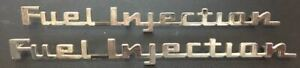 Nos 1957 Corvette Chevrolet Fuel Injection Script Emblems 2