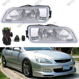 For 2003 2007 Honda Accord 4dr Bumper Driving Fog Lights Lamps W wiring Switch