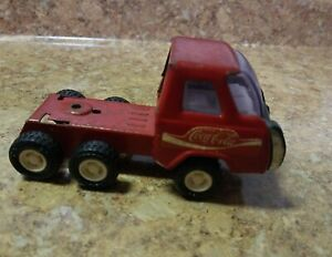 Vintage Buddy L Truck Red Pressed Steel Coca-Cola Toy Truck Made in Japan