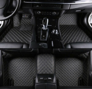 Fit For Mitsubishi Outlander 2016 2020 Leather Car Floor Mats Waterproof Mat