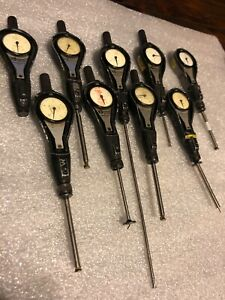 Lot Of Nine 9 Standard Precision Dial Bore Gages