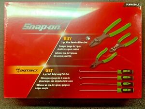 Snap On Pliers Wire Striper Crimper Cutter Pick Set New Plwiresglg
