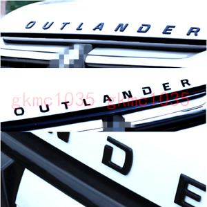 Mitsubishi Outlander Gloss Black Car 3d Letters Hood Emblem Logo Badge Stickers