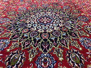 10x13 Vintage Red Wool Rug Hand Knotted Antique Handmade Formal Oriental 9x12 Ft
