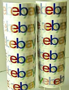 12x Roll Ebay Branded Packaging Shipping Tape Bopp 75 Yards Per Roll 2mil Thick