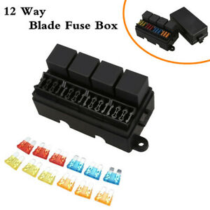 Waterproof 12 Way Blade Fuse Box Block Holder Car Truck Trailer Boat Universal