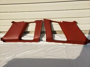 1973 1977 Grand Prix Left And Right Interior Sail Panel Trim Set Red Used