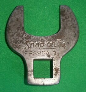 Snap On 3 8 Drv 3 4 Sae Specialty Crowfoot Wrench S8696a