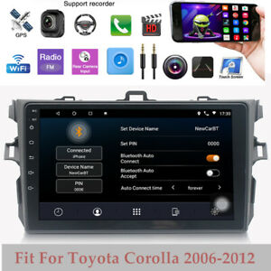 Fit For Toyota Corolla 2006 2012 9 Gps Nav Android 9 1 Car Stereo Radio Wifi Bt