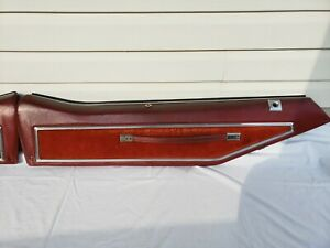 1973 1977 Pontiac Grand Prix Lj Upper Door Panel Set Red Used