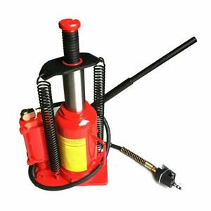 Heavy Duty Air Hydraulic Bottle Easily Handles 20 Ton Manual Truck Red Black
