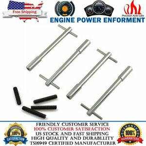 Chrome Steel Valve Cover T Bar Wing Nuts Bolts Studs 1 4 20 For Chevy Ford Olds