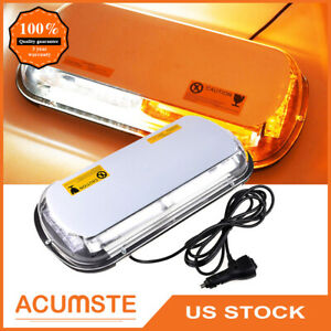 Us 44 Led Emergency Flash Warning Roof Top Strobe Light Amber white Car Vehicle