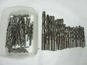 Lot Drill Bits Many Sizes Metalworking Mills 11 2 3 8 Morsey Cleveland Etc
