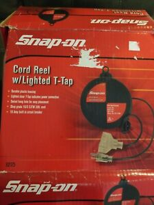 Snap On Tools 30 Ft Cord Reel W Lighted T Tap 92175 Rare