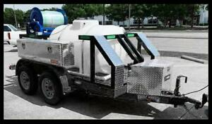 Trailer Mounted Sewer Drain Cleaner Pipe Hydro Jetter 3700 Psi W Camera Combo