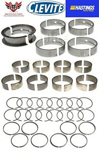 Chevy Gm Geniii 5 7 Ls1 Hastings Piston Rings With Clevite Rod And Main Bearings