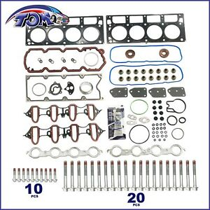 Head Gasket Set W Bolts Fits 04 14 Gmc Buick Cadillac Chevrolet 4 8l 5 3l Ohv
