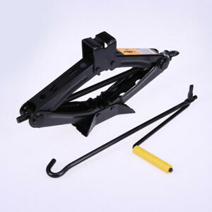 Heavy Duty Wind Up Scissor Jack Stands For Auto Car Suv Van Speed Handle 2 Ton