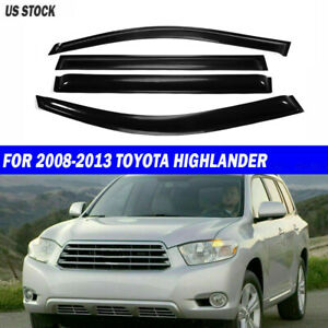 For Toyota Highlander 2008 2012 2013 Window Visor Rain Sun Guard Shade