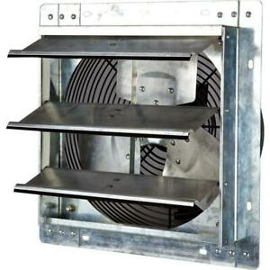 Commercial Exhaust Fan 12 Wall Mount Speed Shutter Steel Frame Kitchen Workshop