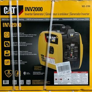 Cat Inv2000 Quiet 1800w Running Gas Portable Inverter Generator 522 2700 New