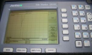 Nice Anritsu S810c Site Master With New Battery charger 3 3 10 5ghz Full Test