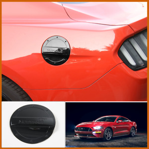 For Ford Mustang 2015 2020 Black Abs Car Fuel Tank Oil Gas Cap Trim Cover