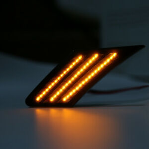 Sequential Smoked Led Side Marker Signal Lights For Subaru Brz Scion Frs 86