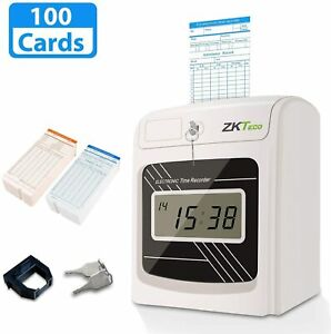 Punch Time Clock Bundle With 100 Time Cards Starter Time Clocks For Employees