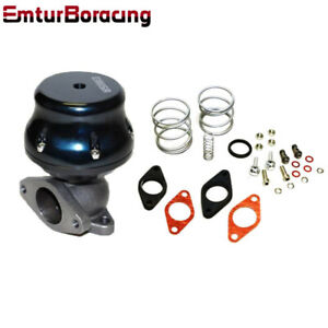 2 Bolt External 38mm Turbo Wastegate Bypass Exhaust spring Psi Black