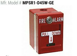 Mpsr1 d45w ge Edwards Weatherproof Pull Station Single Action Fire Alarm
