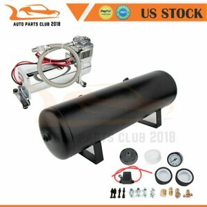 12 Volt 200 Psi Air Compressor 3 Gallon Air Tank Gauge Horn Kit For Truck Train