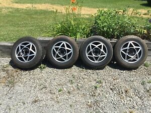 Mgb 14 Star Wheel 5 5 X 14 Michelin 165 Sr 14 Tire Set 4