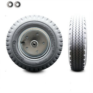 Scc 12 X 3 5 Gray Pneumatic Wheel Only With 4 Centered Hub And Ball Bearings