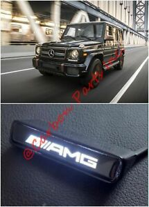 W463 Amg Style Illuminated Logo Badge On Front Grille Mercedes G class S class