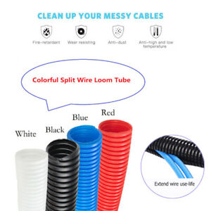 Colorful Split Wire Loom Cable Sleeve Cover Wires Protection organization Lot