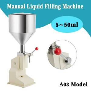 Liquid Filling Machine Cosmetic Filler 5 50ml For Cream Shampoo Paste Water New