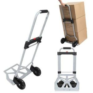 Portable Folding Hand Truck Dolly Luggage Carts silver 220lbs Capacity industria