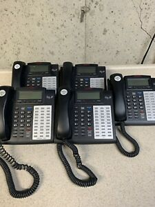 Esi Ip Phone 48 Key Button Ipfp Business W Cord Stand Black lot Of 5
