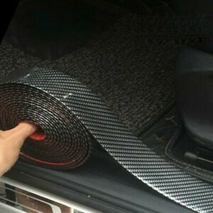 Car Sticker Carbon Fiber Rubber Edge Guard Strip Trunk Door Sill Protector Diy