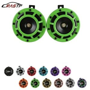 1pair Super Loud Compact Electric Blast Super Tone Hella Horn For Car Motorcycle