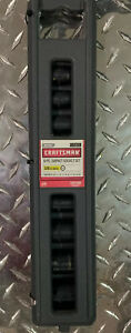 Craftsman 3 8 Inch Drive Metric 9 Piece Impact Socket Set Easy To Read 6 Point