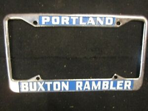 Amc Rambler Nash Dealership License Frame